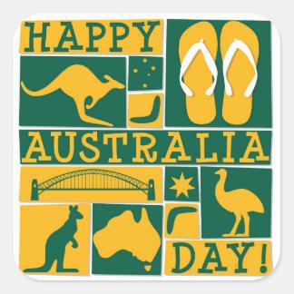 Australia Day Square Sticker
