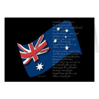 Australia Flag and Anthem2 Card