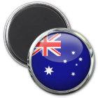 Australia Flag Glass Ball Magnet