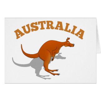 Australia, jumping Kangaroo Card