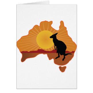 Australia Kangaroo Card