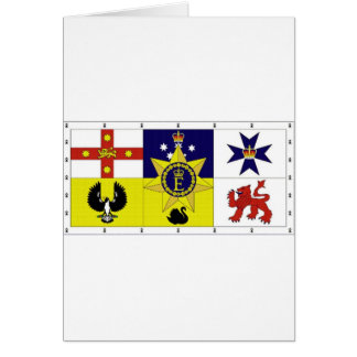 Australia Personal Flag of HM The Queen Card