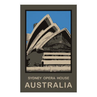 Australia Sydney Opera House Poster