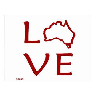 Australia T-Shirts and Gifts, Love Australia! Postcard