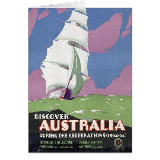 Australia Vintage Travel Poster Restored Card