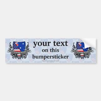 Australian-American Shield Flag Bumper Sticker