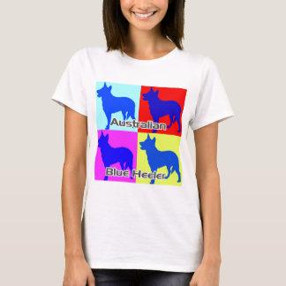 Australian Blue Heelers Color Wall T-Shirt