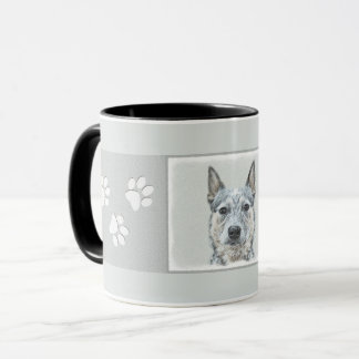 Australian Cattle Dog Painting - Cute Original Art Mug