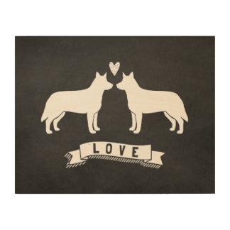Australian Cattle Dogs Love Wood Print