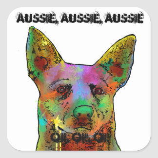 Australian Cattle Dogs Square Sticker
