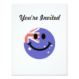 Australian flag smiley face card