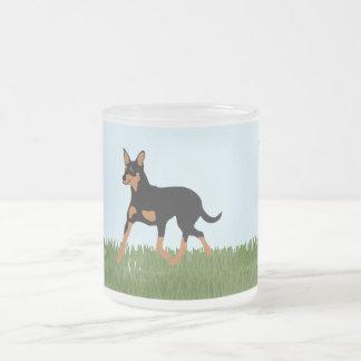 Australian Kelpie 10 Oz Frosted Glass Coffee Mug
