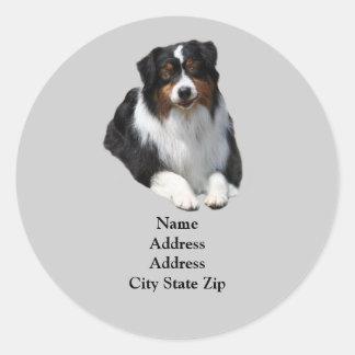 Australian Shepherd Guardian Address Label Round Sticker