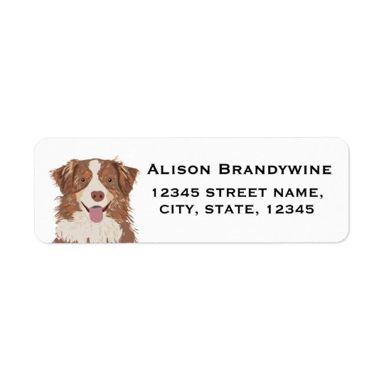 Australian Shepherd - return address labels