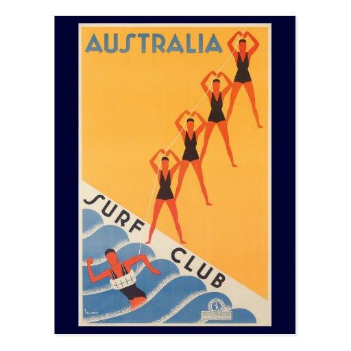 Australian surf club vintage poster post cards