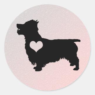 Australian Terrier Heart Stickers