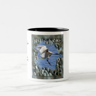 Australian White Ibis-Mug Two-Tone Coffee Mug