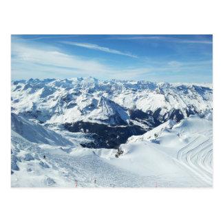 austria ski mountain travel alps snow landscape postcard