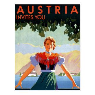 Austria Vintage Travel Poster Postcard
