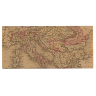 Austrian Empire, Italy, Turkey in Europe, Greece 2 Wood USB 2.0 Flash Drive