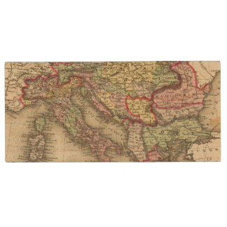 Austrian Empire, Italy, Turkey in Europe, Greece Wood USB 2.0 Flash Drive
