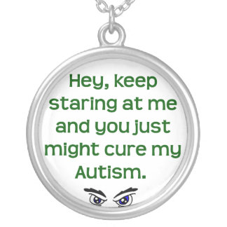 Aut/Keep Staring Round Pendant Necklace