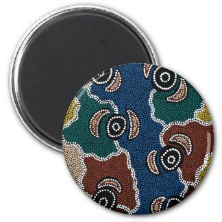 Authentic Aboriginal Art - Riverside Dreaming Magnet