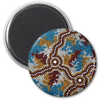 Authentic Aboriginal Art Wetland Dreaming Magnet