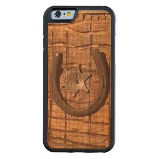 Authentic Hackney Ranch Western Art Custom Design Carved Cherry iPhone 6 Bumper Case