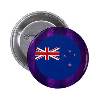 Authentic New+Zealander Flag 6 Cm Round Badge