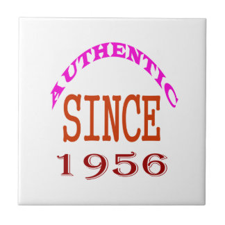 Authentic Since 1956 Birthday Designs Small Square Tile