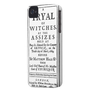 Authentic Witch Trials Poster iPhone 4 Covers