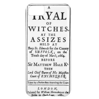 Authentic Witch Trials Poster iPhone 5C Case