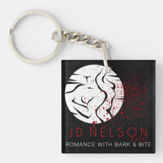 Author JD Nelson Square Keychain