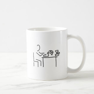 author writer typewriter coffee mug