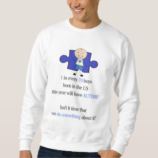 Autism 1 in 70 sweatshirt