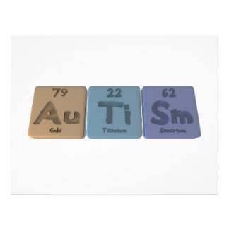 Autism-Au-Ti-Sm-Gold-Titanium-Samarium Flyer Design