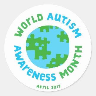 Autism Awareness 2017! Classic Round Sticker