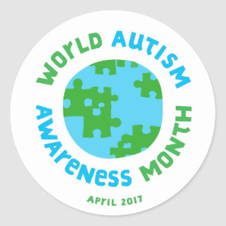Autism Awareness 2017! Round Sticker