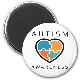 Autism Awareness 6 Cm Round Magnet