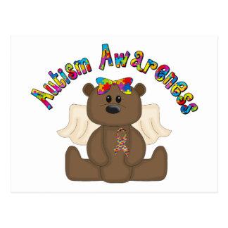 Autism Awareness Bear Post Card