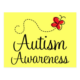 Autism Awareness Butterfly Gift Post Cards
