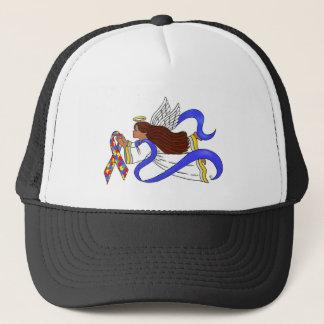 Autism Awareness Ethnic Angel Trucker Hat
