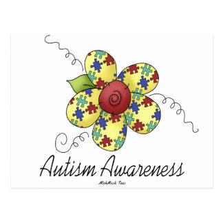 Autism Awareness Flower Postcards