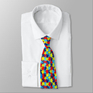 Autism Awareness-Puzzle by Shirley Taylor Tie