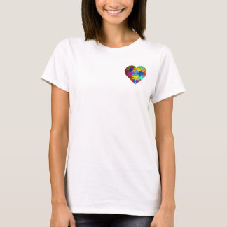 Autism Awareness Puzzle Heart Pocket Graphic T-Shirt