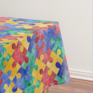 Autism Awareness puzzle tablecloth