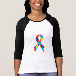 Autism Awareness Ribbon A4 T-Shirt