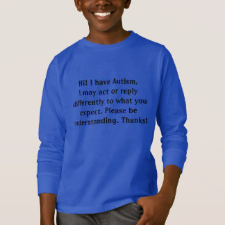 Autism awareness sweatshirt for outings