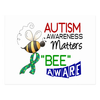 Autism BEE AWARE 1 Post Card